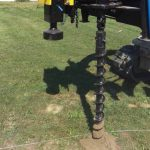 Auger drilling in action