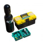 Tool box, nitrogen charge kit and filled nitrogen bottle